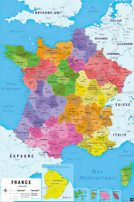 Map Of France - Poster / Print (Republique Francaise - In French)