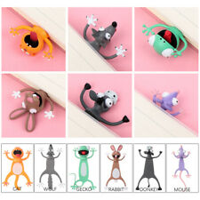 3D Stereo Cartoon Marker Animal Bookmarks Original Cute Children Bookmark Gifts