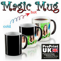 Personalised Heat Colour Changing WOW Magic Printed Mug Cup Custom Gift Image