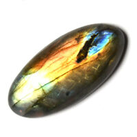 Cts. 39.25 Natural Labradorite full Fire Cab Oval Cabochon Loose Gemstone