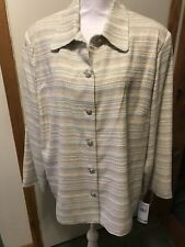 Alfred Dunner 22w Multi Color Stripe Jacket