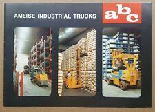 1973 Ameise Industrial Trucks original sales brochure