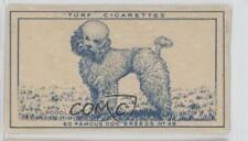 1949 Turf Famous Dog Breeds Tobacco Base #48 Poodle Non-Sports Card 0f3