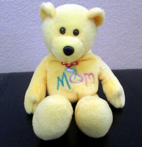 "Limited Treasures Yellow Mom Bear 1999 9"" USED"
