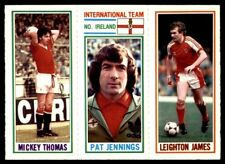 Topps Football 1981 Blue 76. Thomas / 177. Pat Jennings / 108. Leighton James