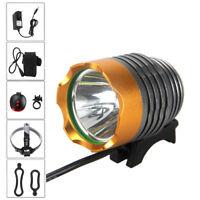 000LM XM-L T6 LED Linterna Foco Bicicleta Front Luz Recargable 4x18650 Battery
