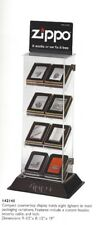 NOS Vintage Zippo Lighters Display Case Counter Unit #142145 with lock & cable