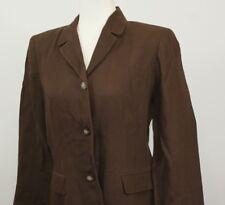 Ann Taylor Petite 10 Petite Short Brown Pant Suit 3 Button Professional Career