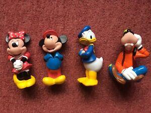 Official DISNEY MICKEY figure Toy BUNDLE Lot Minnie Donald Rubber Vintage Sque