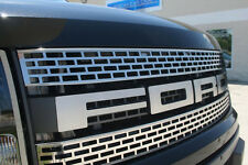 2010-2014 Ford F-150 Raptor Brushed Stainless  Upper Grille & FORD Letters