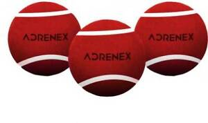 Buy Aenex Heavy Cricket Tennis Ball (Pack of 3, Red)