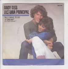 "Andy GIBB & Victoria PRINCIPAL Vinyl 45T 7"" ALL I HAVE TO DO IS DREAM - RSO RARE"
