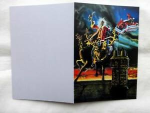 IRON MAIDEN Rare Christmas Card 1981 ! Limited Reprint !
