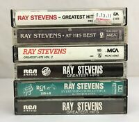 Lot of 6 RAY STEVENS Cassette Tapes ~ Everything Is Beautiful, Greatest Hits