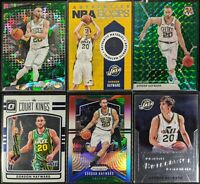 Lot of (6) Gordon Hayward, Including Hoops jersey patch, Prizm/Mosaic parallels