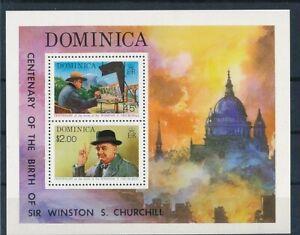 D202544 Winston Churchill S/S MNH Dominica