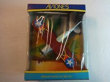 Mira of Spain Red & Blue Gloster Fighter Bi-Plane Airplane w/ box