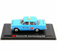 1/43th LEO alliage modèle de voiture Moskvitch 408-Saint-Pétersbourg 1964 TAXI