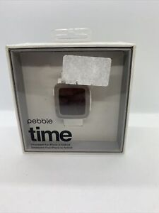 Pebble Time  Arctic White Classic Buckle - (501-00021) Good Working Condition