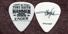 TOBY KEITH 2014 Hammer Down Tour Guitar Pick!!! Toby's custom concert stage Pick