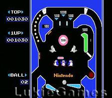 Pinball - Fun NES Nintendo Game