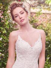 "MAGGIE SOTTERO ""DREW"" WEDDING GOWN BRIDAL BRIDE DRESS SWAROVSKI  IVORY SIZE 12"