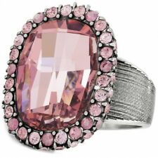NWT Brighton CONTESSA Pink Silver STATEMENT Size 6 Ring MSRP $82