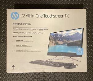 "NEW HP 22-DF0023W 22"" TOUCHSCREEN ALL-IN-ONE COMPUTER RYZEN 3 3.5GHZ 8GB 1TB DVD"