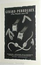 1946 Girard Perregaux Watch advertisement, square-case wristwatch