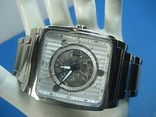 BULOVA AUTOMATIC 96A107 MEN'S CASUAL WATCH 21 JEWELS S/S SKELETON DIAL