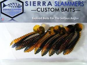"SIERRA SLAMMERS 2.5"" Soft Plastic Paddle Tail Swimbait Fishing Lure Halloween"