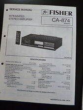 ORIGINAL SERVICE MANUAL Fisher Integrated Stereo Amplifier ca-874