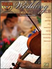 Wedding Favorites Violin Play-Along Volume 13 Sheet Music Book with CD