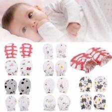 2 Pairs Soft Cotton Infant Newborn Baby Anti Scratch Mittens Gloves Radom Color