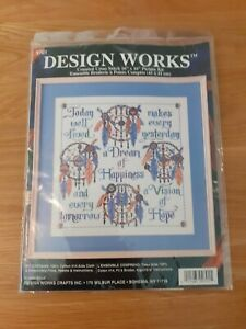 Design Works Crafts A Dream Of Happiness9701 Counted Cross Stitch Kit 16x16 new