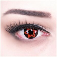Coloured Contact Lenses Sasukes Mangekyou Color Anime, Carnival + Free Case
