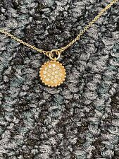 Vintage  Gabriel & Co. 13 Diamond RoundPendant Necklace in 14K Rose Gold