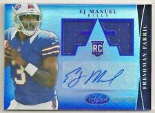 E.J. Manuel 2013 Certified BLUE Dual Jersey RC Autograph Auto #'d/100 - BILLS