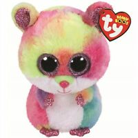 "TY Beanie Boos 6"" RODNEY Pink Hamster Plush Stuffed Animal Toy MWMTs Heart Tags"