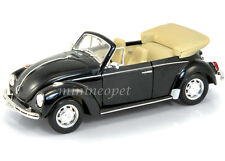 WELLY 22091 VW VOLKSWAGEN BEETLE CONVERTIBLE 1/24 DIECAST BLACK
