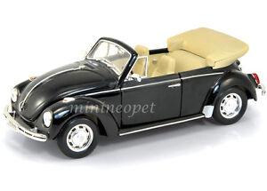 WELLY 22091 VW VOLKSWAGEN BEETLE CONVERTIBLE 1/24 DIECAST BLACK