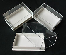 12X PERSPEX DISPLAY SPECIMEN BOX IDEAL FOR FOSSILS, METEORITES, DIE CASTS, COINS