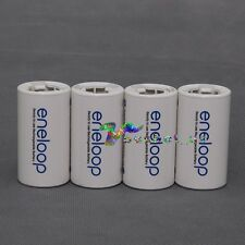 4Pcs Sanyo Eneloop Battery Adaptor Converter AA R6 to C R14 C-Size