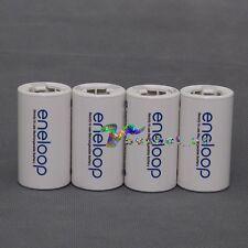 4Pcs Sanyo Eneloop Battery Adaptor Converter AA R6 to C R14 C-Size