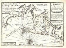 Antique map, Plan de la Baye et Rade de Cadis et des environs.1730.