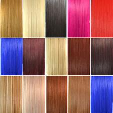 55cm beauté LISSE cheveux Remy queue de cheval Vierge à Clip Extensions