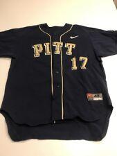 Game Worn Used Pittsburgh Panthers Baseball Jersey Pitt Nike Size 48 #17