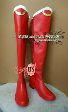 Cosplay Schuhe Stiefel Boots Sailor moon Tsukino Usagi Gr.34-42 PU Handarbeit