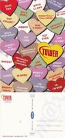 TOWER RECORDS VALENTINE CANDY UNUSED ADVERTISING COLOUR POSTCARD