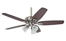 """3 light kit ceiling fan with pull chain 132 cm 52"""" HUNTER BUILDER PLUS Chrome"""